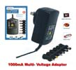 1000mA Mulit-Voltage Power Adapter