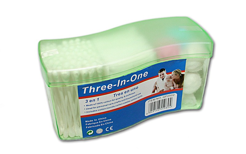 3 IN 1 COTTON ROUNDS/SWABS & BALLS